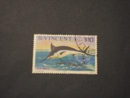 ST. VINCENT - 1975 PESCE 10 D. - TIMBRATI/USED - St.Vincent (1979-...)