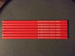 7 CRAYONS COULEUR ROUGE Calypso  No 89 - Autres Collections