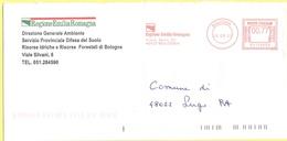 ITALIA - ITALY - ITALIE - 2002 - 00,77€ EMA, Red Cancel - Regione Emilia-Romagna - Viaggiata Da Bologna Per Lugo - Affrancature Meccaniche Rosse (EMA)