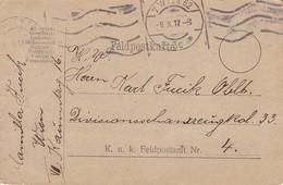 Feldpostkarte Wien Nach Divisionsschanzzeug Kd. 33 FP 4 - 1917 (39636) - 1850-1918 Imperium
