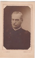 PORTRAIT D'UN HOMME AVEC UNIFORM. G DUBOIVIS. VINTAGE PHOTO CIRCA 1900s. SIZE 11x18cm - BLEUP - Anonymous Persons