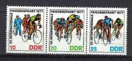 DDR 1977, Friedensfahrt Fahrrad Fiets Bicycle Vélo Bicicleta **, MNH - Radsport