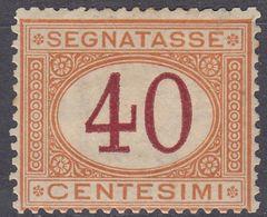 ITALIA - Segnatasse, Yvert 9 Nuovo MH. - Segnatasse