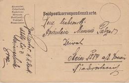 Feldpostkarte Marineschule Graz Nach Stein/Donau - 1917 (39639) - 1850-1918 Imperium