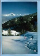 Jeux De Neige Face Au Mont-Blanc 2 Scans Ski Skieur Skieuse Sport D'hiver - Sports D'hiver
