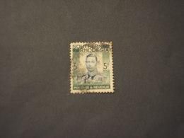 RHODESIA SUD - 1938 RE 5 Sh. -TIMBRATO/USED - Rhodesia Del Sud (...-1964)