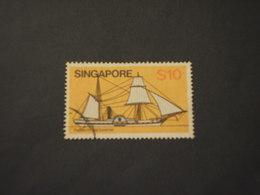 SINGAPORE - 1980 VELIERO 10 D. -TIMBRATO/USED - Singapore (1959-...)