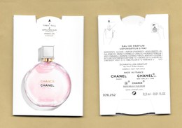 PUFFER *** CHANCE * CHANEL * R/V - Cartes Parfumées