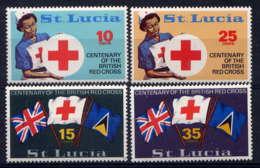 Ste LUCIE - 280/283** - CENTENAIRE DE LA CROIX ROUGE BRITANNIQUE - Ste Lucie (...-1978)