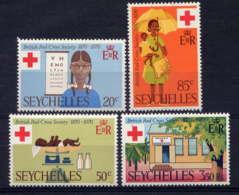 SEYCHELLES - 271/274** - CENTENAIRE DE LA CROIX ROUGE BRITANNIQUE - Seychelles (...-1976)