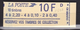 FRANCE Carnet 10 Timbres Réservez Vos Timbres N° 1501** - Usage Courant