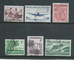 Cocos Keeling Island 1963 Definitive Set Of 6 FU - Cocos (Keeling) Islands