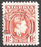 Nigeria - Scott #55a Used - Perf 11 1/2 (2) - Nigeria (...-1960)