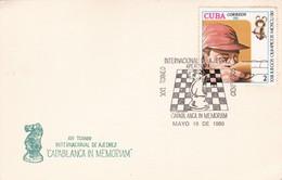 "XVI TORNEO INTERNACIONAL DE AJEDREZ ""CAPABLANCA IN MEMORIAN"" SPECIAL COVER 1980 CUBA - BLEUP - Ajedrez"