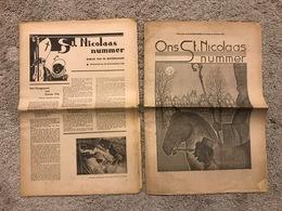 ST. NICOLAAS NUMMER BIJBLAD DE ROTTERDAMLER 30/11/1932 + ONS ST. NICOLAS NUMMER 27/11/1931 - Revues & Journaux
