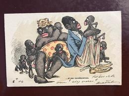 2 CP Racisme Illustrateur Signé - L'amour Et Ses Conséquenses - Illustrateurs & Photographes