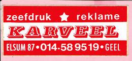 Sticker - Zeefdruk - Reklame - KARVEEL - Elsum Geel - Stickers