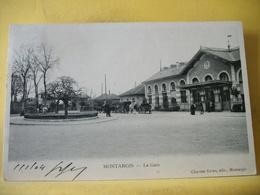 45 7425 CPA 1904 - 45 MONTARGIS. LA GARE - ANIMATION. ATTELAGES. - Estaciones Sin Trenes