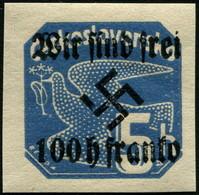 Sudetenland Rumburg Zeitungsmarke 100 Auf 5 Heller  Mi.Nr. 28  POSTFRISCH Und ECHT !! - Occupation 1938-45