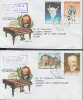1993-FDC-35 CUBA FDC 1993. REGISTERED COVER TO SPAIN. BALLET CENT DE TCHAIKOVSKI. - FDC