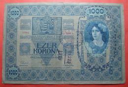 YUGOSLAVIA KINGDOM 1000 KRONEN 1919, CITY OF *NASICE* CROATIA, RRR - Croatie
