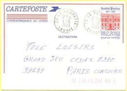 FRANCIA - France - 1989 - 2,20 Institut Pasteur - Carte Postale - Intero Postale - Entier Postal - Postal Stationery - V - Entiers Postaux