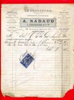 FACTURE (Réf :D743 LE CHARENTAIS JOURNAL POLITIQUE IMPRIMERIE CHARENTAISE A. NADAUD G. CHASSEIGNAC & Cie, Srs ANGOULÊME - France