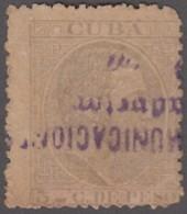 1884-208 CUBA SPAIN. 1884. ALFONSO XII. RAILROAD CANCEL. - Cuba