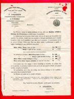 FACTURE (Réf : D770) FABRIQUES D'HUILE D'OLIVES VIERGE DE PROVENCE F. ARDISSON PROPRIÉTAIRE A St-CHAMAS (AIX-EN-PROVENCE - 1800 – 1899