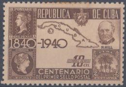1940-275 CUBA REPUBLICA 1940 Ed.342 PENNY BLACK, ROWLAND HILL. MH. - Cuba