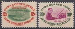1955-296 CUBA REPUBLICA 1955 Ed.627-28. JAIME GONZALEZ CROCIER. MNH. - Cuba