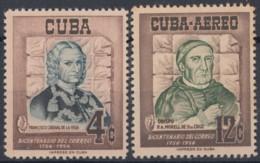 1956-340 CUBA REPUBLICA 1956 Ed.644-45. CENT. SERVICIO POSTAL. CAJIGAL & MORELL. MH. - Cuba