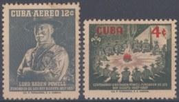 1957-352 CUBA REPUBLICA 1957 Ed.682-83. BOYS SCOUTS, BADEM POWELL. LIGERAS MANCHAS. - Cuba