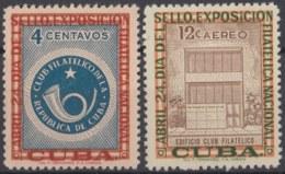 1957-354 CUBA REPUBLICA 1957 Ed.692-93. MH. CLUB FILATELICO, EXPO FILATELICA NAC. - Cuba