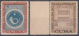 1957-355 CUBA REPUBLICA 1957 Ed.692-93. MH. CLUB FILATELICO, EXPO FILATELICA NAC. - Cuba