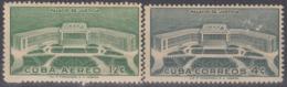 1957-359 CUBA REPUBLICA 1957 Ed.707-08. PALACIO DE JUSTICIA, PALACE OF JUSTICE. LIGERAS MANCHAS. - Cuba