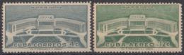 1957-361 CUBA REPUBLICA 1957 Ed.707-08. MNH. PALACIO DE JUSTICIA, PALACE OF JUSTICE. - Cuba