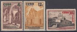 1957-363 CUBA REPUBLICA 1957 Ed.722-24. MNH. ESCOLAPIOS DE GUANABACOA. MANCHAS. - Cuba