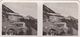 Photos Stereo Rare Leysin (Suisse District Aigle) Quartier Est Par Société De Développement - Photos Stéréoscopiques