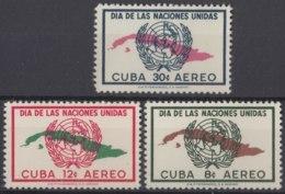 1958-370 CUBA REPUBLICA 1958 Ed.718-20. MNH. DIA DE LAS NACIONES UNIDAS. - Cuba