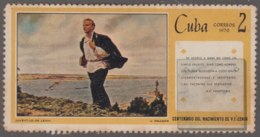 1970.105 CUBA 1970 2c ERROR DIPLACED COLOR. LENIN RUSIA RUSSIA. GOMA MANCHADA. - Cuba