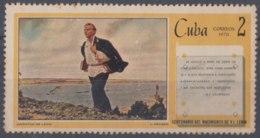 1970.106 CUBA 1970 2c ERROR DIPLACED COLOR. LENIN RUSIA RUSSIA. GOMA MANCHADA. - Cuba