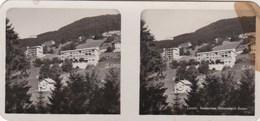Photos Stereo Rare Leysin (Suisse District Aigle) Sanatorium Universitaire Par Société De Développement - Photos Stéréoscopiques