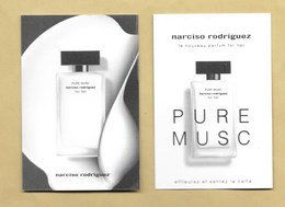 Carte Parfumée Perfume Card PURE MUSC FOR HER * NARCISO RODRIGUEZ * R/V - Cartes Parfumées