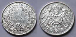 1 Mark Jäger 17 Silber Münze Großer Adler 1914 A Kaiserreich  (22011 - [ 2] 1871-1918: Deutsches Kaiserreich