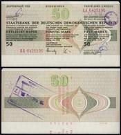 DDR Reisescheck 50 Mark Eingelöst In Der Karibik 1989    (23443 - 1949-1990: DDR