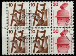 BRD HEFTCHENBLATT Nr H-Blatt 21 Zentrisch Gestempelt HB X969906 - BRD
