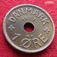 Denmark 1 Ore 1937 KM# 826.2  Dinamarca Danemark Danimarca Denemarken - Danemark