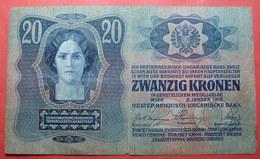 AUSTRIA 20 KRONEN 1913, Serial Number: 832569 - 2242 - Autriche