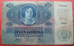 AUSTRIA 50 KRONEN 1914, Serial Number: 703932 - 1024 - Austria